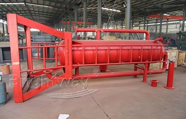 Rear view of Brightway Mud Gas Separator