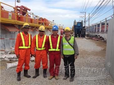 Brightway service technician (Second from the right)