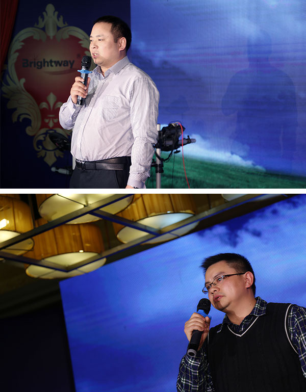 manager Mr. Liu Yuelang and Vice GM Mr. Wang Yong give all the guest and staff a brief speech