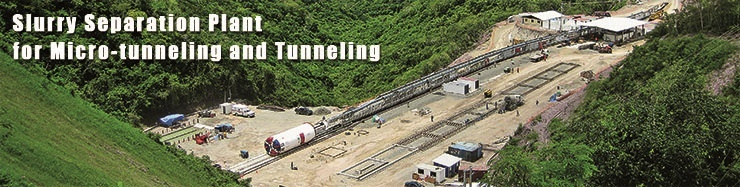 Slurry Separation Plant for Micro-tummeling and Tunneling